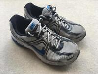 Size 8.5 Grey / Blue Nike Running Shoes
