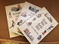 Three A. A. Milne Whinne the Pooh children's books excellent condition