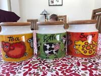 Dunoon Funky Farm Tea, Coffee & Sugar Pots