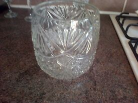 cut glass bowl approx 7 inches high post not included