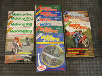 Motorcycling Monthly magazine 1977 - 1979, 13 motor cycling magazines in total