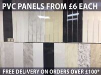 PVC WALL & CEILING PANELS FOR KITCHENS & BATHROOMS / SHOWERS - Waterproof Splash Panels