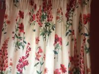 New Laura Ashley curtains - Fernshaw Cranberry fabric, 2 packs, brand new
