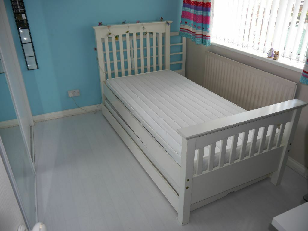 Marks And Spencer Hastings Bedroom Furniture Marks Spencer White Wooden Frame Single Bed With Pull Out Guest