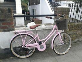 Pink ladies Belgravia Viking bike w/ basket