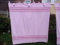 Next Tab Top Pink Lined Curtains