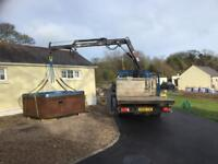 Small hiab lifting hire bags of logs, small machines, workshop moving etc