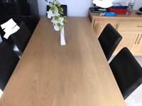 6 seat table and chair +sideboard