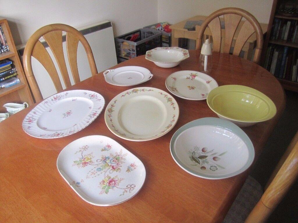 Vintage/Retro serving plates and sugar server