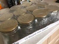 New empty jam jars x 12