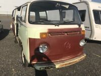 VW T2 Late Bay Camper Tin Top Rare Twin Side Door 1979 Project 2.0 Parts, Panels, Engine + V5