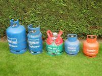 Calor Gas bottles, various sizes. EMPTY £15 EACH. Deposit normally £40 each.