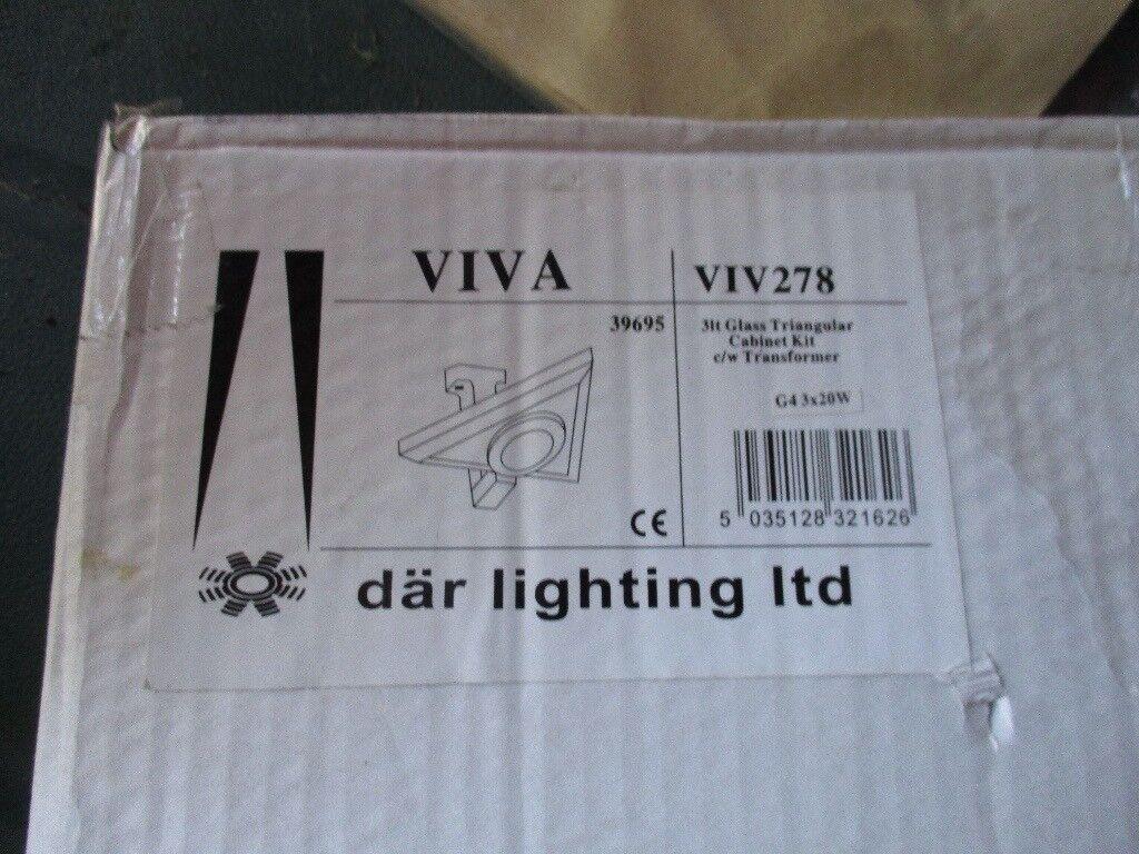 New DAR Set of 3 VIVA Triangular Cabinet lights with transformer