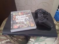 PlayStation 3 PS3 12gb slimline plus controller and GTA V 5