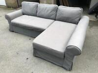 FREE DELIVERY IKEA BACKABRO GREY L-SHAPED SOFA BED