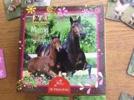 Horse Memory / Find-a-pair game, new, ideal present