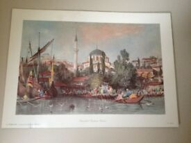 Istanbul Tops Ante Camii and Papyrus prints
