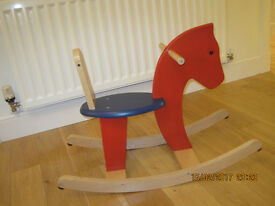 Pintoy Baby Wooden Rocking Horse