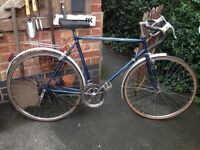 Vintage retro Athena 10 speed road racer,58cm frame,700c wheels,dual weinman brakes