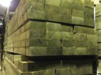 X50 wooden railway sleepers pressure treated green