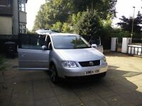 VW TOURAN DIESEL ESTATE - 1.9 TDI PD SE 5dr [With 7 Seats], Silver, Alloys, Full Service History