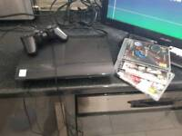 Ps3 slim console with 3 games pad and HDMI cable