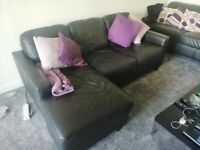 3 seaters leather sofa from Next