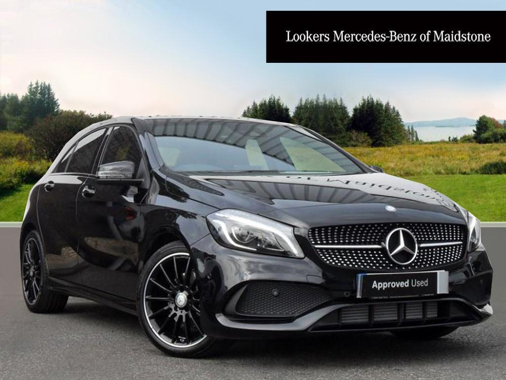 mercedes benz a class a 200 d amg line premium black. Black Bedroom Furniture Sets. Home Design Ideas