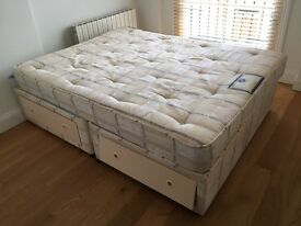 King sized bed and mattress