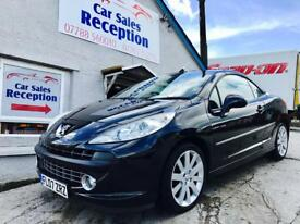 PEUGEOT 207 GT CC COUP CONVERTIBLE LOW MILES LEATHER £2695!!