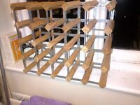 wooden wine rack for 25 bottles in very good condition
