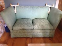 2 SEATER LAURA ASHLEY KNOLE SOFA / DAY BED / SETTEE