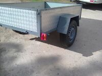 6x4 car trailer new aluminium checker plate sides