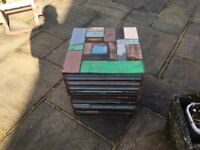 Solid Wood Coloured Block Seat
