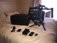 DJI RONIN M gimbal with official case, extra Battery, Tripod mount and tilt arm extensions