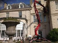 17 MTR NARROW ACCESS CHERRY PICKER HIRE WITH OPERATOR DOING ANY WORK AT HEIGHT.MEMBER OF IPAF.