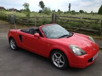 TOYOTA MR2 ROADSTER 2002 MOT APRIL 2018 SAME LADY OWNER PAST 8 YRS - 7 INCH TOUCHSCREEN DVD/STEREO