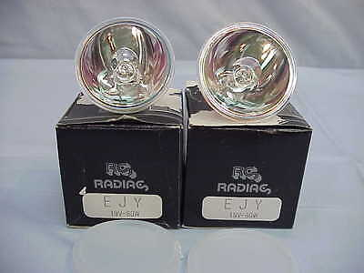 Lot Of 2 New Sylvania Ejy Projector Bulb 19v 80w Gx5.3 Base 25hr Life
