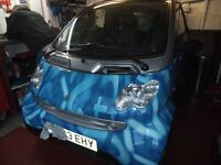 smart car 700cc breaking