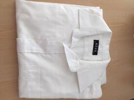 Man's Shirt long sleeved White 15inch collar