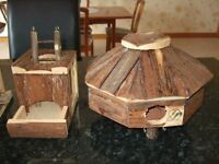 Dwarf Hamster collection of wooden houses / play buildings including: