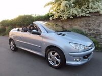 PEUGEOT 206 CC 1.6 ALLURE CONVERTIBLE 2004 ONLY 52K MILES 14 SERVICE STAMPS