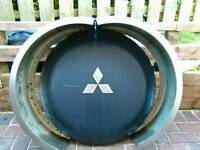 Pajero/shogun bullbar and spare wheel cover