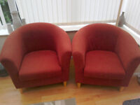 Two matching tuc chairs