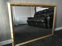 Modern Gold Framed Wall Mirror