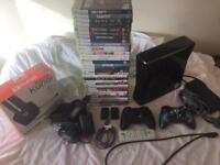 Xbox 360 slim 250gb,2 pads,30 games