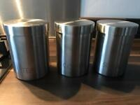 Tea,sugar and coffee canisters