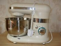 Excellent condition Table Top Food Mixer, with mixing tools and stainless steel mixing bowl.