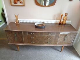 Vintage Mid Century 1960's High Gloss Sideboard