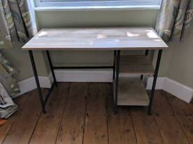 Oak and metal desk